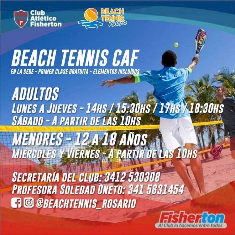 Sumate a los entrenamientos de Beach Tennis