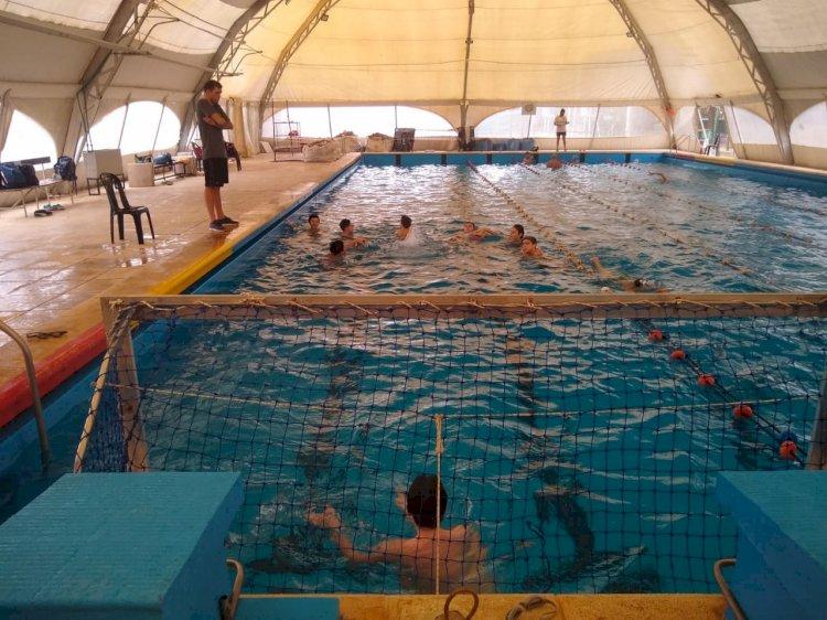 Waterpolo entrena en la PileCAF