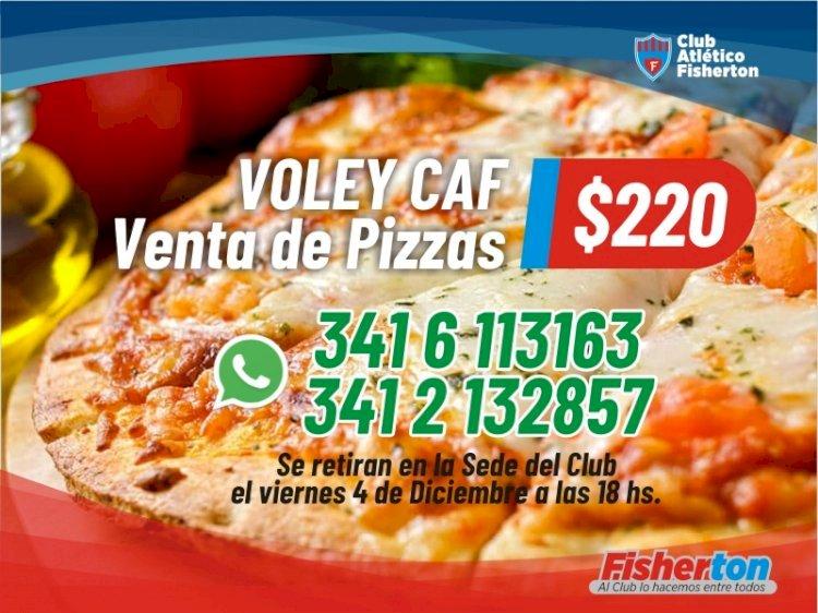 Vóley: venta de pizzas
