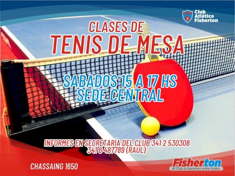 Sumate a las clases de Tenis de Mesa en la Sede